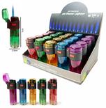 Jet Flame transparant aanstekers - Storm aansteker - Turbo aanstekers - Display van 20 stuks -Navulbaar