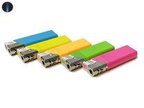 Turbo aanstekers neon kleur - Unilite Vio - tray van 50 stuks - navulbaar