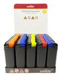 Klik aanstekers Unilite - Matt rubber - 50 stuks in tray - navulbaar