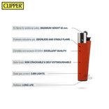 Clipper Aanstekers- 48 stuks- Crystal Vuursteen aansteker - na vulbaar