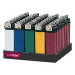 Aanstekers tray van 50stuks  -assorti 5 kleuren - Unilite aansteker