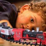 Rc Stoomtrein met echte rook en CHoo CHoo trein geluid incl. Rail Baan 103x78CM - afstand bestuurbaar - locomotief