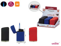 Jet Flame Unilite aanstekers  - turbo aansteker - 15 stuks in display - 3 soft color - soft touch lighters