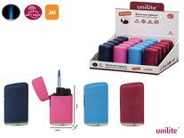 Jet Flame Unilite aanstekers  - turbo aansteker - 20 stuks in display - 4 ass. soft color - soft touch lighters