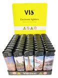 Klik aanstekers 50 in tray navulbaar- Unilite aansteker - VIO deal lighters