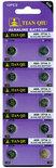 Knoopcel batterijen AG 6 / 371A batterijen 10 stuks in pak