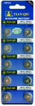 Knoopcel batterijen AG 13 / 357A  10 stuks in pak