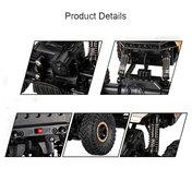 RC 2.4GHz Monster 4WD METAL CRAWLER 1:18 |rc auto black