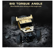 RC 2.4GHz Monster 4WD METAL CRAWLER 1:18 |rc auto Gold