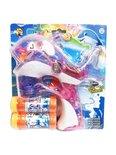 Bellenblaas speelgoed pistool- schiet automatisch bellen uit - met geluid en lichtjes Dolfijn - roze