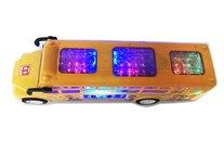 Schoolbus met Disco Led Lichtjes en Muziek - speelgoed busje 24CM