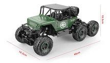 RC Rock Defender Off Road auto- 6x6 wheel drive - Bergbeklimmer -2.4Ghz | 1:12