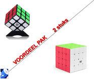 Breinbreker cube| rubik's kubus (3X3) 6CM + Breinbreker Revenge 4x4x4 - kubus -6.2CM