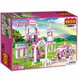 COGO Prinses kasteel - bouwsteen set van 500stuks - educatief meisjes bouwblokken speelgoed
