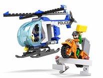 COGO 4149 Police City - Politiehelikopter + dief op scooter bouwset van 164 stuks - Bouwblokken set
