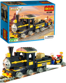 Cogo City Thomas trein blokjes - bouwpakket van 209 stuks speelgoed - Thomas de stoomlocomotief