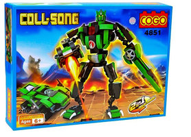 COGO bowblokken Transformer robot&car 2in1 bouwpakket - 200 stuks bouwsteentjes