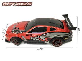 Rc bestuurbaar drift auto - 3D light - oplaadbaar - 43CM - 1:10