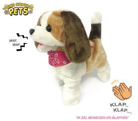 Schattig blaffende hondje - blaffen en bewegen op geluid - Voice Control Pets - 23CM