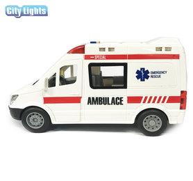 Ambulance met licht en geluid speelgoed- City Lights 22CM