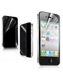 Scherm folie iphone 4 & 4S doorzichtig | 2in1 achter en voorkant