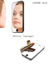 Screen protector iphone 5/5S/5C mirror| spiegel folie beschermer