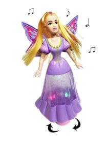 Dansende prinsesje pop fee met licht en muziek (26CM)