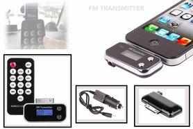 FM transmitter & remote control iphone 4S /iPod /ipad 3/Iphone 3 |auto fm transmitter |Music |Hands free talk