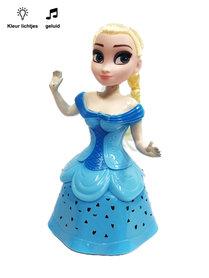 Snow Girl prinsessen pop |danst en zingt -blauw