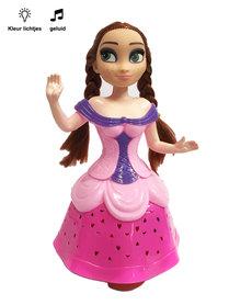 Snow Girl prinses pop |danst en zingt -roze