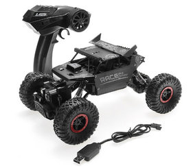 RC 2.4GHz Monster 4WD METAL CRAWLER 1:18 |rc auto black