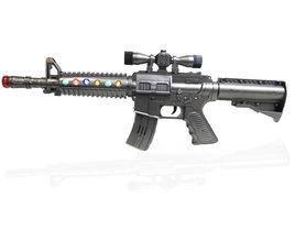 M4 geweer Flash Gun speelgoed - ( LED lichtjes en schietgeluiden) 45CM