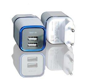 USB Reis adapter 2.1 9 - SSTS - 2x USB oplader