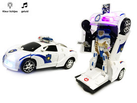 Politie Robot Car 2 in 1 robot en auto   Pioneer