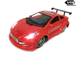 RC Race Auto  Red  Emulation Car 1:16 rood -oplaadbaar via usb