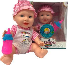 Lovely Baby pop met geluidjes - 12.5CM -Trendy speelgoed baby