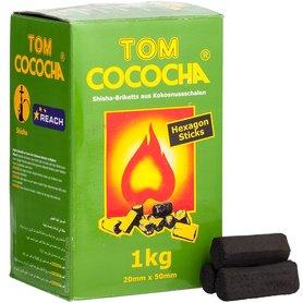 Tom Cococha Hexagon 1KG kooltjes - kolen voor waterpijp  - hookah coal
