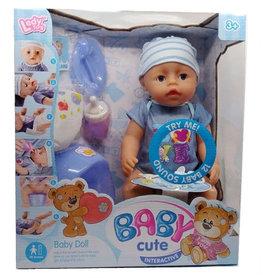 Interactieve babypop met accessoires 40 CM