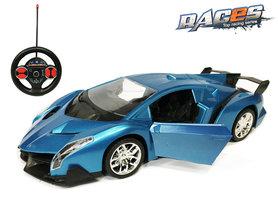 Rc auto   race sportwagen - stuurwiel zender - oplaadbaar auto 1:14