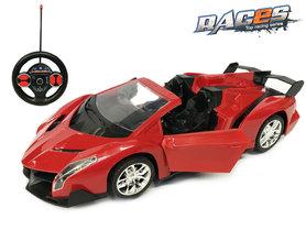 Rc race sportwagen - stuurwiel zender - oplaadbaar auto 1:14