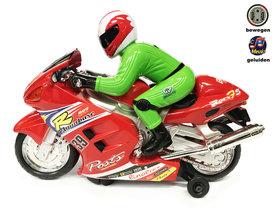 BS Speelgoed race motor met geluid en lichtjes  Motorcycle Racer -rood