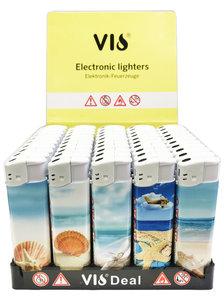 Klik aanstekers 50 in tray navulbaar- Vio deal lighters