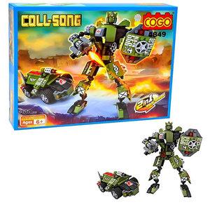 COGO Coll-SONG - Transformer robot car 2in1 bouwpakket - 200 stuks bouwsteentjes