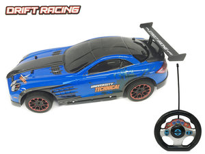 Rc bestuurbaar drift auto - 3D light - oplaadbaar - 43CM - 1:10 blauw