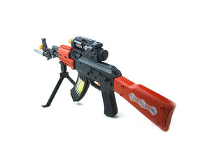 Speelgoed geweer | Flashing AK-47 GUN 69CM met geluid en lichtjes