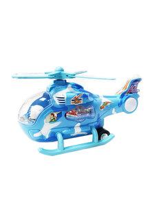 Speelgoed helikopter met disco Led lichtjes en helicopter geluid 26.5CM