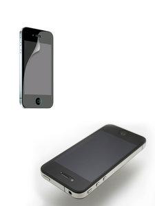 Screen protector iphone 4/4S bescherm folie matt 2in1