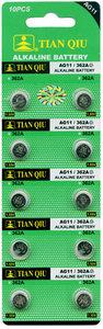 Knoopcel Batterijen AG 11 / 362A 10 stuks in pak