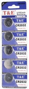 Knoopcel Batterijen CR2032 3V  |5 stuks in pak