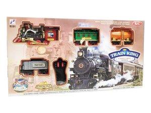 Speelgoed stoomtrein smoking | Rail Baan 103x78CM - TRAIN KING - trein